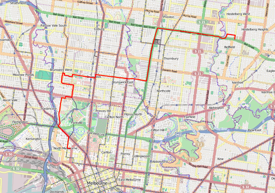 Map Matching Melbourne GPS Dataset - Gps map data